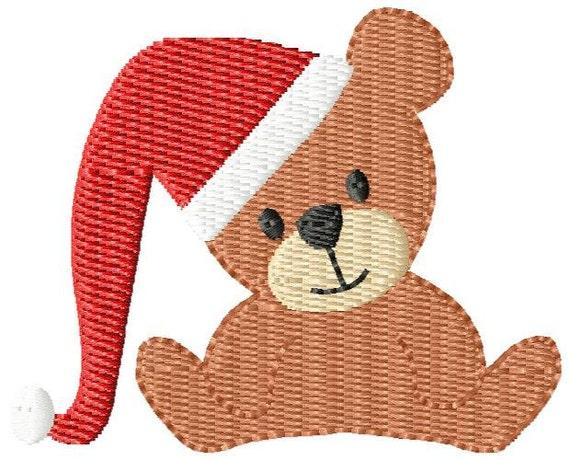 Christmas Bear Mini Machine Embroidery Design
