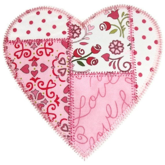 Patchwork heart machine embroidery by simplysweetembroider