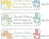 Custom return address labels-66 pcs