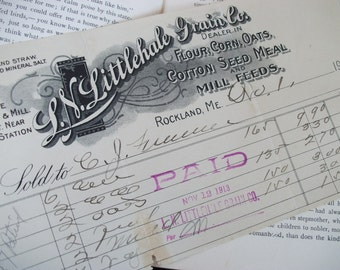Antique Store Receipt from Maine