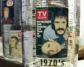 TV Guide Tumblers  Christmas gift for T V Lover and soap fan