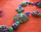 violet and green necklace