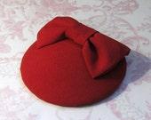 Miss Scarlet. Red Cocktail Hat.