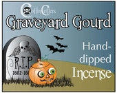 GRAVEYARD GOURD-Coffin Critters Hand Dipped Incense Sticks, Handmade