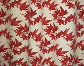 Pair of Red Maple Cotton Curtain Panels (2) for StJohnGirl