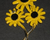 Retro Mod Blackeyed Susan Bouquet Pin Brooch, Mad Men, Wedding Bouquets, TheRetroLIfe
