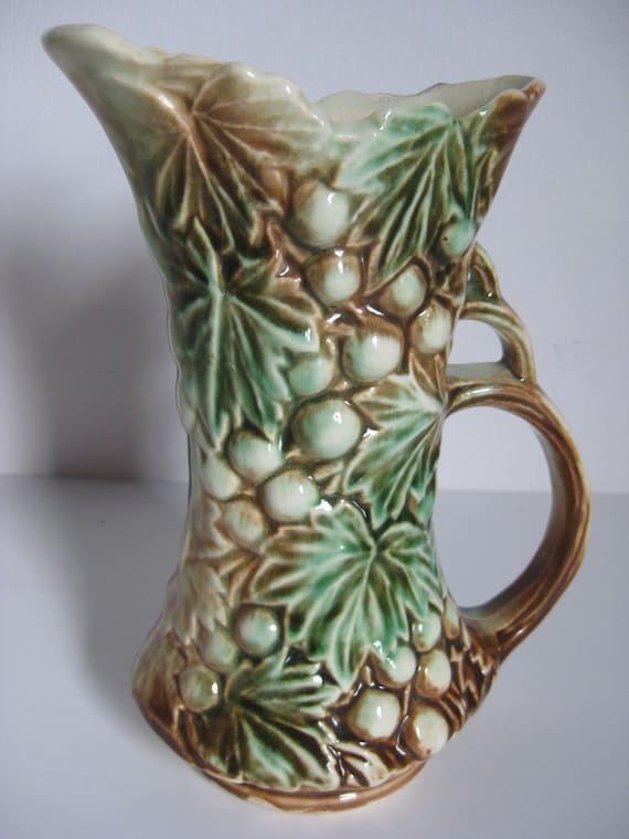 Mccoy Grapevine Pitcher Vintage Mccoy Ceramic Pottery