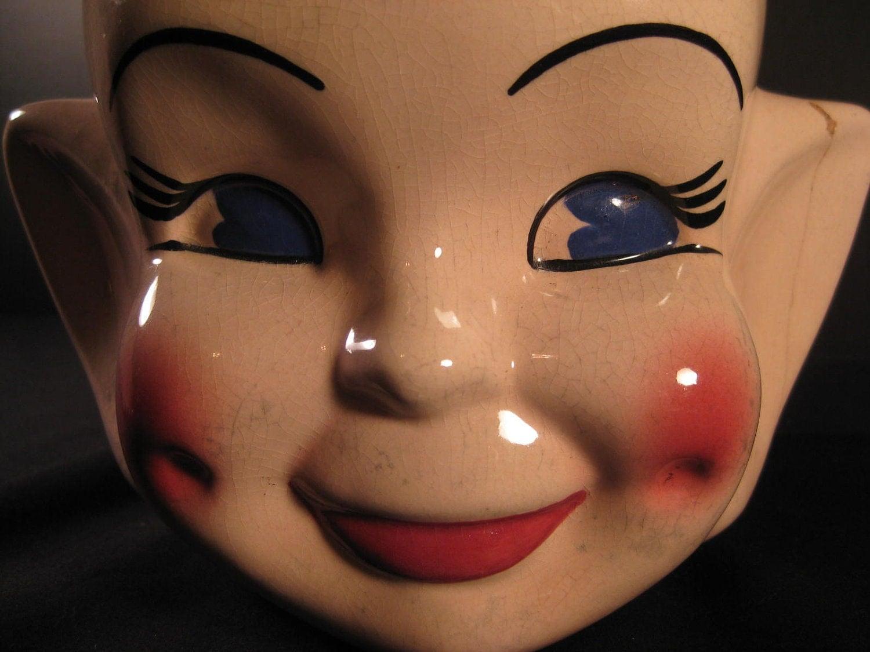 Retro Midcentury Elf Pixie Cookie Jar 1960s 1950s Gift On