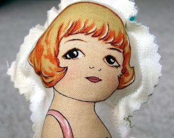 Coco - Cute Fabric doll - retro like