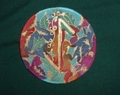 Three Hand Painted Tree of Life Yule Decorations