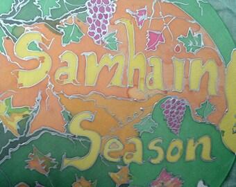 Honoring Our Pagan Samhain Altar Painting