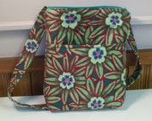 Shop Closing Clearance - was 30 - Cute Little Bag Hipster Shop Hopper in Kaffe Fassett fabric