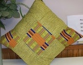 Clearance - was 30 - Kente Throw Pillows and Insert Kwanzaa African American Holiday gift 18 X 18 Removeable covers