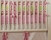 Elegant Crib Skirt with up to 3 peek a boo Box Pleats and bows