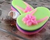 Soap - Summer Fun Flip Flop Soap Made with Shea Butter - Glycerin Soap - Handmade Soap - SoapGarden