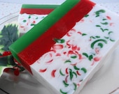 Soap - Santa's Beard  Soap - Glycerin Soap - Holiday Soap - Christmas Soap - Christmas Cookies - Party Favor - SoapGarden