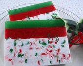 Soap - Santa's Beard  Soap - Handmade Glycerin Soap - Holiday Soap - Christmas Soap - SoapGarden