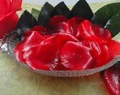 Soap -Red Rose Petal Soaps -Individual Rose Petal Soaps - Glycerin Soaps - Guest Soap - SoapGarden