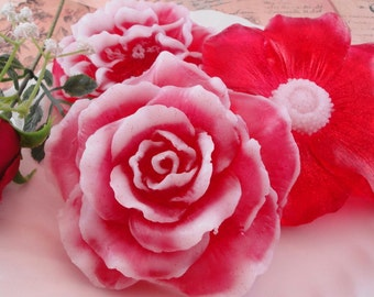 Soap - Scarlet Bouquet Floral Soaps - Glycerin Soap - Handmade Soap - Rose Soap -  Garden Party Favors - SoapGarden
