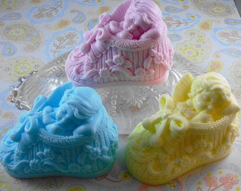 Soap -  New Sweet Baby in Bootie Soap - Glycerin Soap - Handmade Soap - Baby Shower Favors