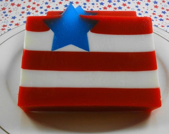 Soap - Hooray for the Red, White and Blue Soap - Glycerin Soap - Celebration Soap - SoapGarden