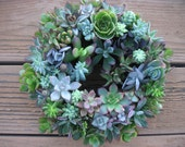 2 Colorful Living Succulent Centerpiece Wreaths, Wedding Receptions And Garden Parties, Ready For Immediate Delivery