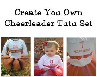 Create your own Custom Made Sports Cheerleader Tutu Set