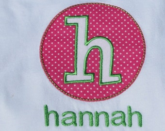 Personalized Initial (or Number) Shirt. Great for New Baby, Brother, Sister, and Birthdays.
