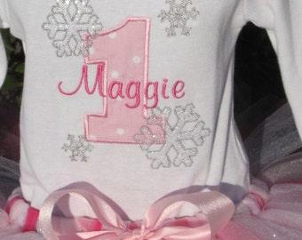 Winter Wonderland Personalized Birthday Shirt or onesie