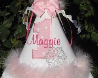 Winter Wonderland  Boutique Birthday Hat
