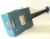 Reserved for Darren Radbourne only...ooak handcrafted  6 string vintage suitcase electric guitar - a greg willert original -