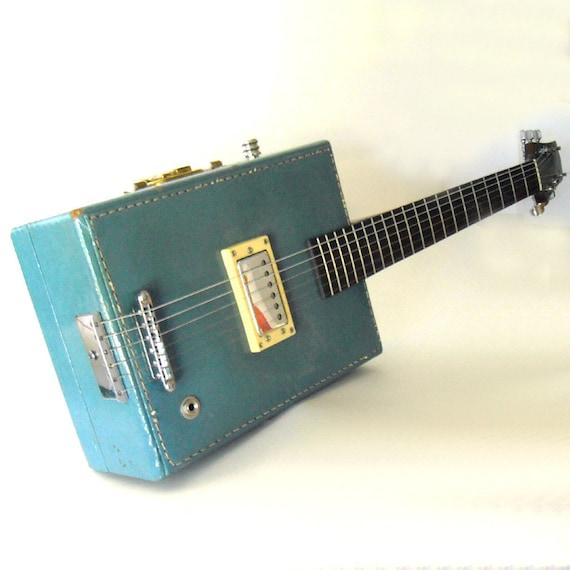 Reserved for Darren Radbourne only...ooak handcrafted  6 string vintage suitcase electric guitar - a greg willert original -