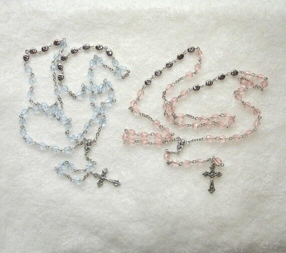 Personalized Baptism/Child's Keepsake Rosary (Style 1)