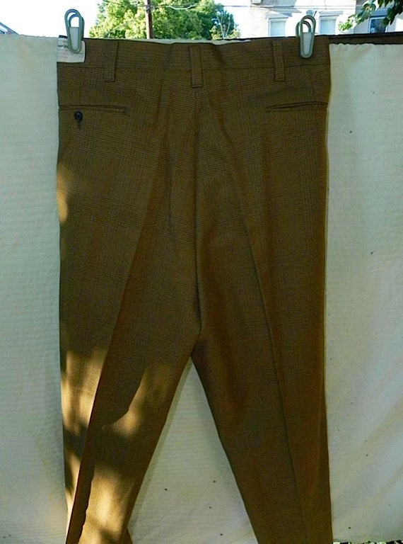 Dead Stock Vintage 60s Mod Mad Men Trousers 38 Lg MINT -on sale-