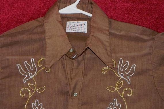 ROCKMOUNT Vintage Rockabilly Embroidered Cowboy Shirt M -on sale-