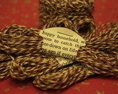 Baker's Twine\/Vintage Sock Darning String \/\/Chocolate Brown and Cream