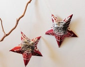 Dr. Browns Natural Soda Black Cherry Stars Soda Can Upcycled Christmas Ornaments