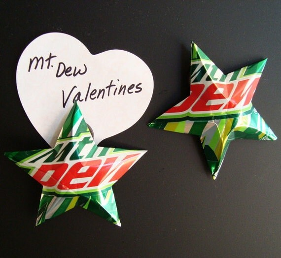 Mountain Dew Stars Magnets Soda Can Upcycled Mtn Dew