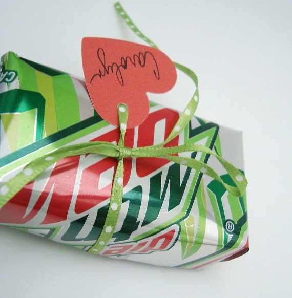 DIET Mtn Dew Valentine Soda Can Gift Box Recycled Eco Friendly Repurposed Recycled