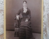 Carte De Visite Photo-A Thin Young Woman from Missouri