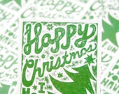 Happy Christmas Postcard Set of 12 - RawArtLetterpress