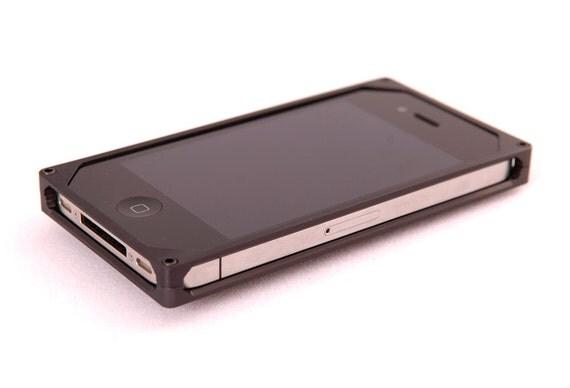 SALE- EXO9 iPhone 4 or 4S Minimalist Case in Dark Gray