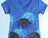 Blue and Black Betta Pattern T-Shirt