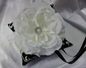 Black and White Damask  Wedding Theme, Ring Bearer Pillow
