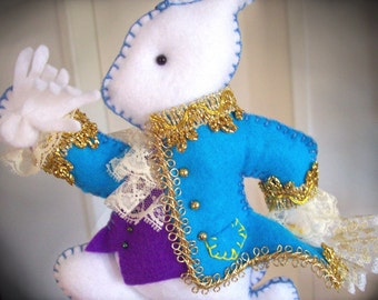 Nursery Mobile - White Rabbit spendidly dressed