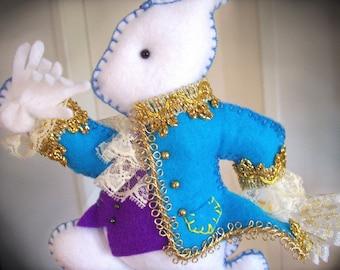 Nursery Mobile - White Rabbit spendidly dressed