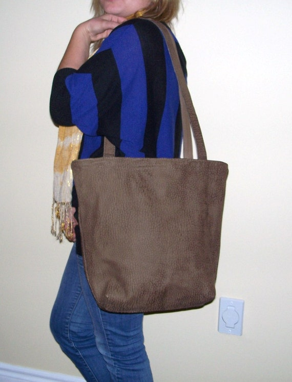 SALE 25% OFF Large brown leather tote bag, shopping bag