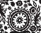 Black and White Table Runner Black Floral Damask Runner Wedding Table Centerpiece Linens Decoration Home Decor