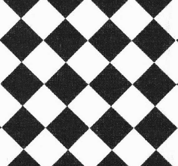 Black and white table runner diamond check by for Carrelage damier noir et blanc 20x20