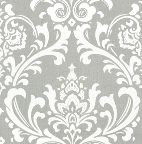 Gray Curtain Panels Damask Curtains Drapery By Exclusiveelements